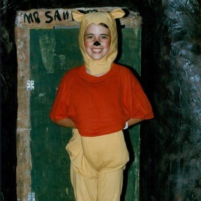 Girl in Winnie the Pooh costume